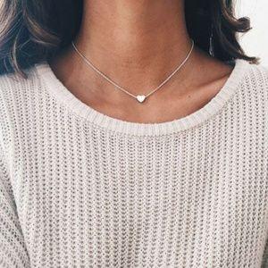 Heart Choker Necklace (Silver)